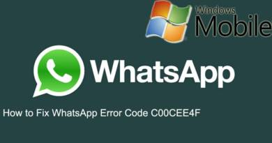 How to Fix WhatsApp Error Code C00CEE4F