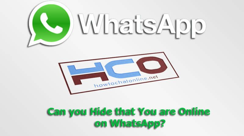 Can you Hide that You are Online on WhatsApp?
