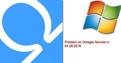 Problem on Omegle Servers in 04-28-2018