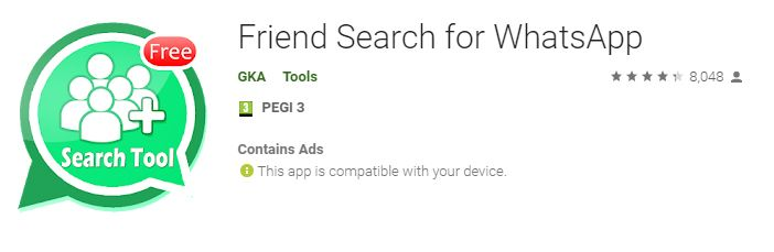 Top WhatsApp Friend Finder Applications on Play Store- List 2 Friend Search for WhatsApp