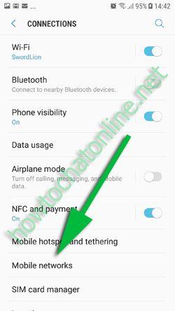 WhatsApp Backup Error in Roaming - Select Mobile Networks in Settings Menu