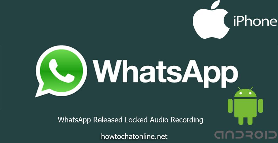 WhatsApp has released the locked audio recording feature today for Android devices, it is at beta text.
