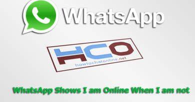 WhatsApp Shows I am Online When I am not