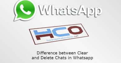 Difference between Clear and Delete Chats in Whatsapp