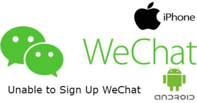 Unable to Sign Up WeChat