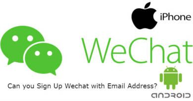Can you Sign Up Wechat with Email Address