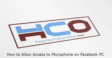 How to Allow Access to Microphone on Facebook PC