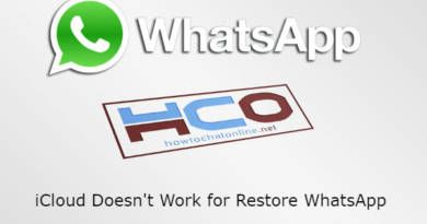 iCloud Doesnt Work for Restore WhatsApp