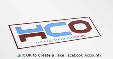 Is it OK to Create a Fake Facebook Account