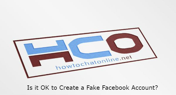 Is it OK to Create a Fake Facebook Account?