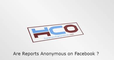Are Reports Anonymous on Facebook