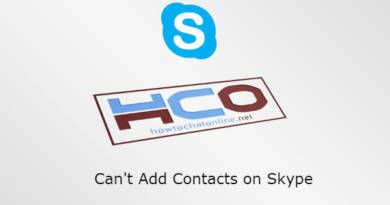 Can't Add Contacts on Skype