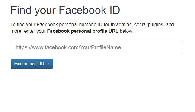 How to Get Someone's Facebook ID