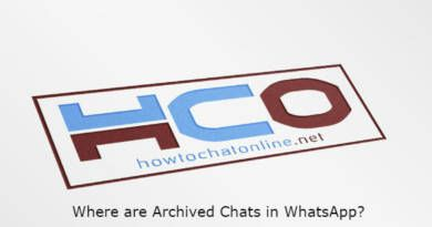 Where are Archived Chats in WhatsApp?