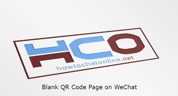 Blank QR Code Page on WeChat