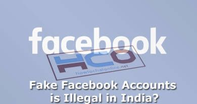 Fake Facebook Accounts is Illegal in India