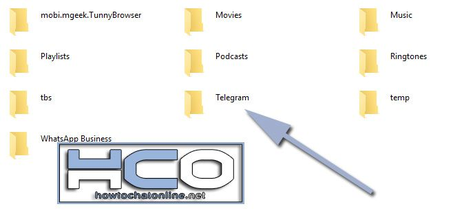 How to Save Audio File from Android to Windows OS - Click on Telegram Folder on the Phone Directory