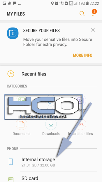 How to get android internal files
