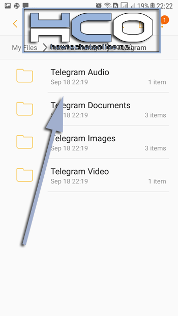 How to Save Audio On Android Step 4 - Tap on Telegram Audio