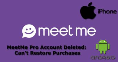 MeetMe Pro Account Deleted Cant Restore Purchases