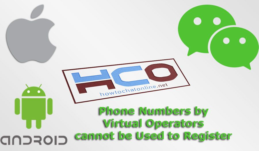 Phone Numbers by Virtual Operators cannot be Used to Register