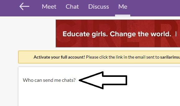 How to Accept Chat Requests on MeetMe Step 4 Click on Who can send me chats