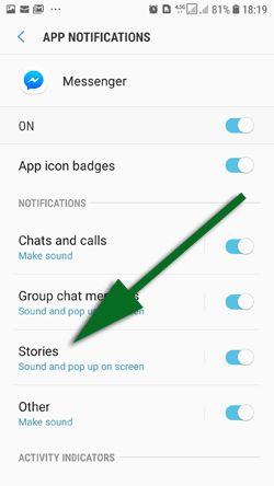 You will see the list of notifications and you will need to tap on stories