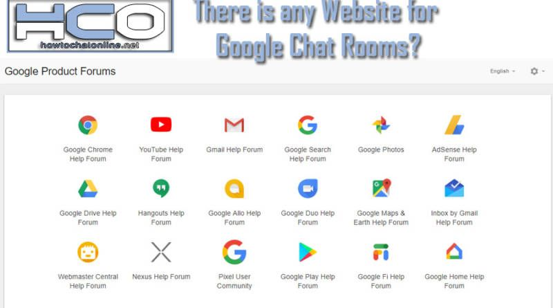 There is any Website for Google Chat Rooms