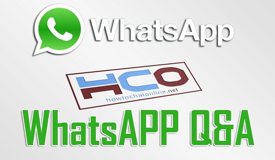 WhatsApp Q&A