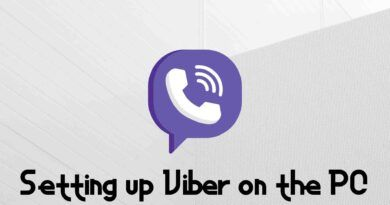 Setting up Viber on the PC